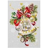 xinmeng Weihnachtskerze Glocken Muster Kreuzstich 11CT 14CT 18CT DIY chinesischen Stickpackungen...