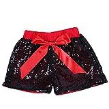 Cilucu Baby Mädchen Pailletten Shorts Kleinkind Sparkle Short Pants Kinder Geburtstag Shorts...