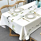 Plenmor PVC Tischdecke Plastik Rechteckig für Küche Esstisch Kunststoff Wischtuchreinigung...