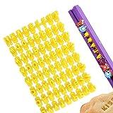 XCOZU Keksstempel, Set mit 72 Buchstaben und Zahlen Buchstaben Ausstecher für Fondant, Fondant...