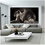 Leinwand Malerei Moderne Wandkunst Lions Animal Poster Wandbilder für Wohnzimmer Home Decor 30x60cm...