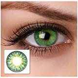 Farbige Kontaktlinsen'cool green' 2x grüne Kontaktlinsen ohne Stärke + gratis...