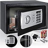 KESSER® Elektr. Tresor | 31x20x20cm | LED-Anzeige | Elektronischer Safe | Doppelbolzenverriegelung...