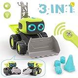 REMOKING RC Roboter Auto Spielzeug, Ferngesteuertes Baufahrzeug Spielzeug Geschenke fr Kinder, 3 in...