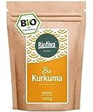 Kurkuma-Pulver Bio 1000g - hochwertige Kurkumawurzel (Curcuma) gemahlen - Superfood -Abgefüllt und...