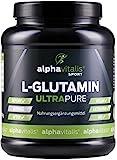L-Glutamin Pulver ULTRAPURE - 99,95% rein - 1000g - neutral - vegan - glutenfrei - laktosefrei -...
