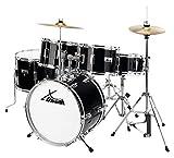 XDrum Junior Pro Kinder Schlagzeug Drumset (geeignet von 5-9 Jahren, mit viel Zubehör, Schule, DVD)...