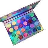 24 Farben Neon Luminous Lidschatten, Schwarzlicht Bodypainting Farben, UV Glowing Matte Glitter...