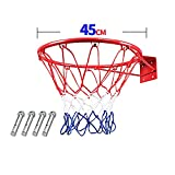 XINGLIAN Kinder Basketballkorb Basketballkante Eisernes Basketballkorbnetz-System Indoor Outdoor...