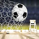 Fototapete Vlies - Tapete Moderne Fußballtor Moderne Wanddeko Wandtapete 140x100cm