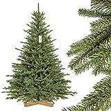 FairyTrees Weihnachtsbaum künstlich BAYERISCHE Tanne Premium, Material Mix aus Spritzguss & PVC,...