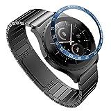 TwoCC Geeignet für Gear S2 Classic Scale Uhrenring Gummiabdeckung Kratzfestes Metallgehäuse