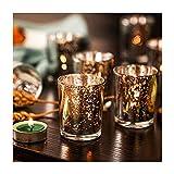 Supreme Lights Glas Teelichthalter 12er Set, 5.2x6.2cm, Gefleckter Teelichtgläser Geschenk...