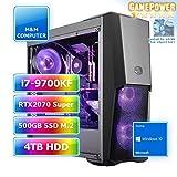 M&M Computer HighEnd PC Wasserkühlung RGB, Intel i7-9700KF CPU, RTX 2070 Super 8GB, 480GB SSD M.2...