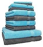 Betz 10-TLG. Handtuch-Set Premium 100% Baumwolle 2 Duschtücher 4 Handtücher 2 Gästetücher 2...