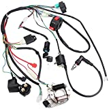 Rocomoco Full Electrical Kabelbaum-Kit Kompatibel mit Dirt Bike ATV Quad 50 70 90 110CC