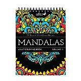 Colorit Mandalas III Malbuch für Erwachsene – 50 einseitige Designs, dickes glattes Papier, flach...