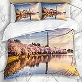 387 KAEVO Bettwschesets Staaten Kirsche Washington Dc USA Gezeitenbecken United Parks Skyline...