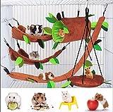 5 Stück Hamsterkäfig Meerschweinchen Käfig Zubehör, Frettchen Käfig Spielzeug Hängematte,...