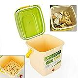 Jasemy 9L Kompostbehälter Küchenabfälle Früchte Gemüse Gärtank Komposteimer Abfalleimer...
