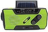 PBQWER Tragbares Solar-Handkurbelradio Für Notfälle, NOAA-Wetterradio Für Den Notfall Im Haushalt...