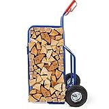 BITUXX® Brennholz Sackkarre Kaminholzkarre Brennholzkarre Holzkarren Holztransporthilfe mit...