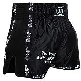BAY Pro-Equip Mesh Muay Thai Short (schwarz/schwarz, M)