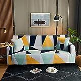 Elastischer Sofabezug Gedrucktes Muster Sofahusse Stretch Couchbezug für Sofa mit Armlehne...