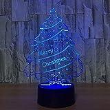 Nachtlicht Kreative 3D Weihnachtsbaum Lampe Tisch Urlaub Licht Led Wohnkultur 7 Farben Ändern Bady...