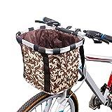 Lvhan FahrradKorb - Faltbar Fahrrad Haustiertasche,Abnehmbarer Fahrrad Lenkerkorb für kleine...