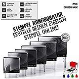 atFoliX Stempel online gestalten, Textstempel in verschiedenen Farben und Größen, original Colop...