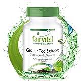 Grüner Tee Extrakt - 90 Kapseln - HOCHDOSIERT - 750mg pro Kapsel - entkoffeiniert - 98% Polyphenole...