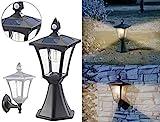 Royal Gardineer Aussenlampe: Solar-LED-Stand- & Wandlaterne, PIR-Sensor, Dämmerungssensor, 300 lm...