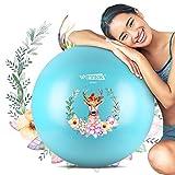 ISUDA Gymnastikball 65 cm,Anti-Burst Sitzball für Fitness Excercise,Yoga,Pilates und...