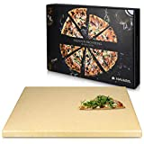 Navaris Pizzastein XXL fr Backofen Grill aus Cordierit - Pizza Stein gro fr Ofen Brot Backen...
