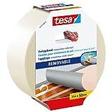 Tesa Teppichverlegeband (rückstandsfrei entfernbar, 25 m x 50 mm) transparent