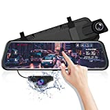 AZDOME 10' Spiegel Dashcam mit Rückfahrkamera, Parkhilfe, ADAS, Super Nachtsicht, Loop-Aufnahme,...