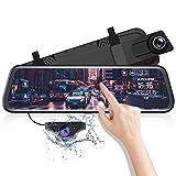 AZDOME 10' Spiegel Dashcam mit Rckfahrkamera, Parkhilfe, ADAS, Super Nachtsicht, Loop-Aufnahme,...