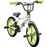 DETOX BMX 18 Zoll Rude Skyway Freestyle Bike Street Park Fahrrad viele Farben (weiß/grün)