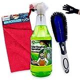 Alu-Teufel Spezial Felgenreiniger Set 5-teilig, Felgenbürste - Mikrofasertücher - Handschuhe,...