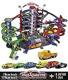 Majorette 212059989 Super City Garage motorisierte Bahn für Modellautos mit Parkplätzen und...