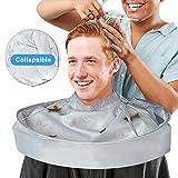 Friseurumhang Haarschneideumhang, Friseur Umhänge Frisörumhang mit Wasserdicht Nylon Tuch für...