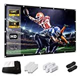 Keenstone HD 16: 9 Projection Screen, 266 x 149 cm (120 Inch) Projection Screen, Support Double...