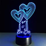 LIkaxyd 3D Lampe Led Täuschung Nachtlicht, 7 Farbwech Ändern Berühren Sie Schreibtisch...