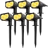 LITOM Solarleuchte garten, Warmweiß Solarstrahler,Solarlampen für garten, gartenleuchten solar,2...