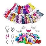 Puppen-Kleidung und Zubehör für Barbie-Puppe mit lässigen Kleidern, Armband, Krone, Ohrring,...