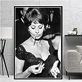 yiyiyaya Heiße Sophia Loren Schwarz Weiß Schauspielerin Film Frau Mädchen Poster Drucke...