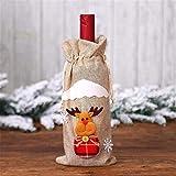 Yppss Weinflaschenset mit Weihnachtsdekoration, Motiv: alter Mann, Weinflasche, D Eternal (Farbe: B)