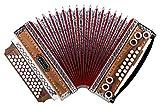 Alpenklang 4/III Harmonika'Deluxe' G-C-F-B Nuss (Steirische Harmonika/Knopfakkordeon, Blumendesign,...