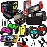 Switch Accessories Bundle - Orzly Geek Pack for Nintendo Switch: Case & Screen Protector, Joycon...